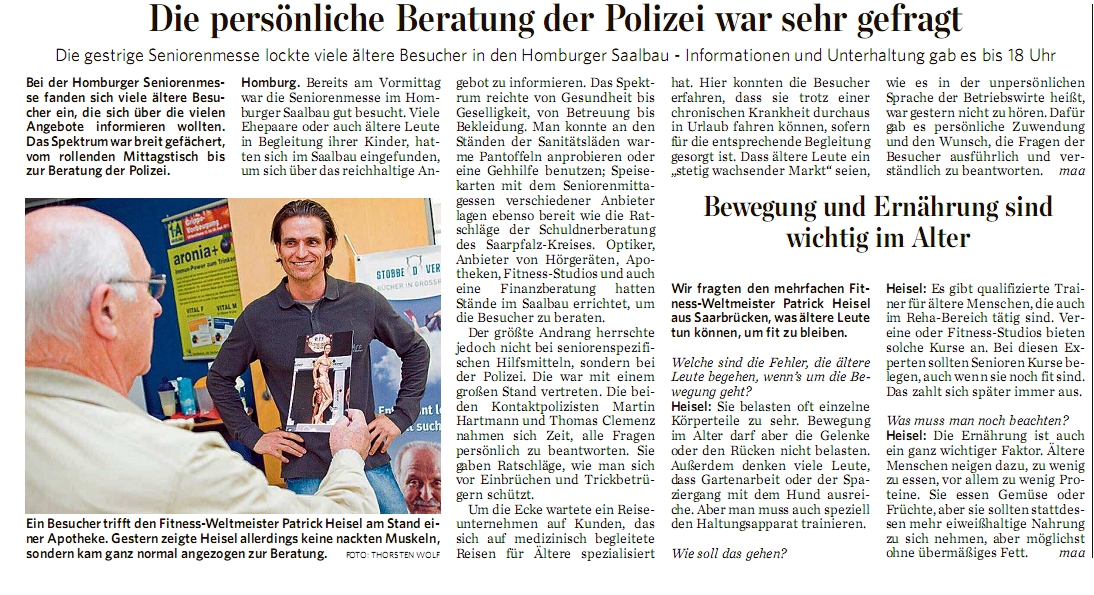 Seniorenmesse Homburg – SZ – Interview  – 19.10.11